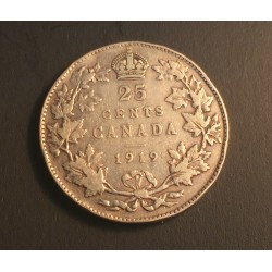 Canada 25 cents 1919